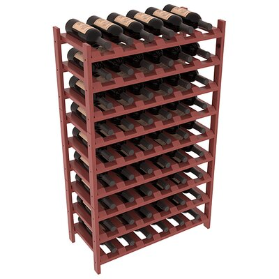 Karnes Pine Stackable 54 Bottle Floor Wine Rack Finish: Cherry Satin