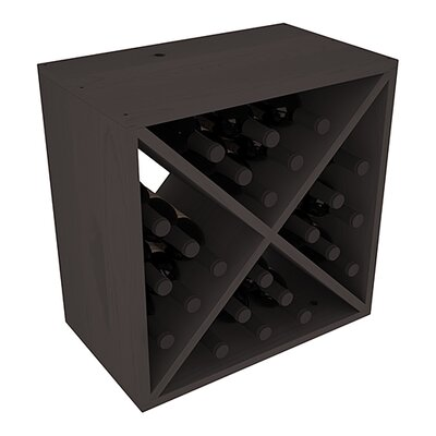 Karnes Pine X-Cube 24 Bottle Tabletop Wine Rack Finish: Black