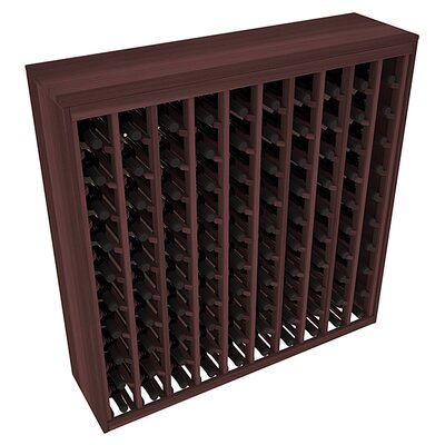 Karnes Redwood Deluxe 100 Bottle Floor Wine Rack Finish: Walnut