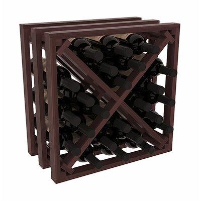 Karnes Redwood Lattice X-Cube 24 Bottle Tabletop Wine Rack Finish: Walnut Satin