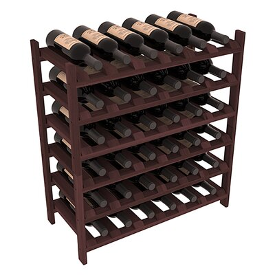 Karnes Redwood Stackable 36 Bottle Floor Wine Rack Finish: Walnut