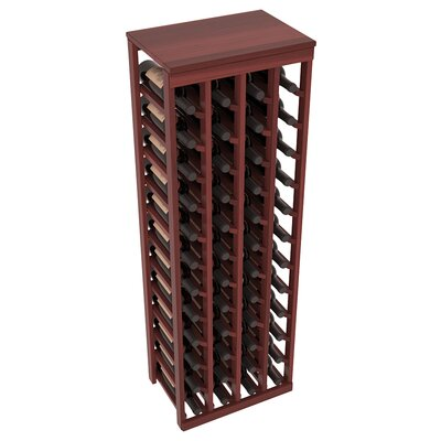 Karnes Redwood Table Top 48 Bottle Floor Wine Rack Finish: Cherry Satin