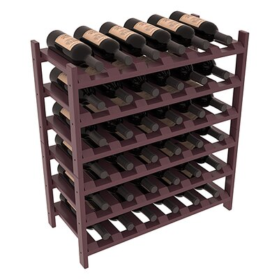 Karnes Pine Stackable 36 Bottle Floor Wine Rack Finish: Burgundy Satin