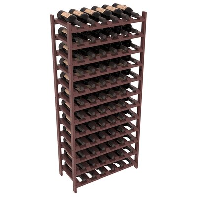 Karnes Pine Stackable 72 Bottle Floor Wine Rack Finish: Walnut Satin