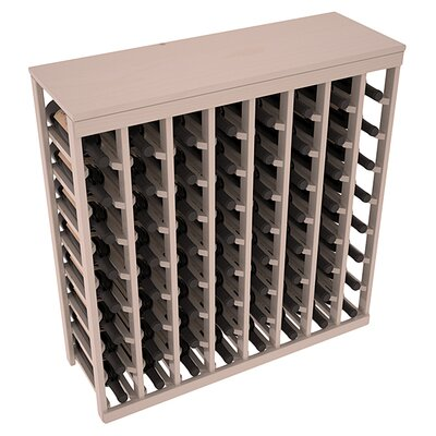 Karnes Pine 64 Bottle Floor Wine Rack Finish: Gray Satin