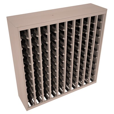 Karnes Pine Deluxe 100 Bottle Floor Wine Rack Finish: Gray