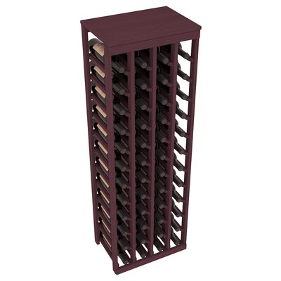 Karnes Pine 48 Bottle Floor Wine Rack Finish: Burgundy