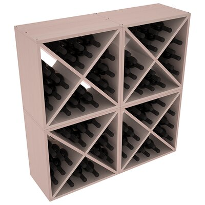 Karnes Redwood X-Cube 96 Bottle Floor Wine Rack Finish: Gray Satin