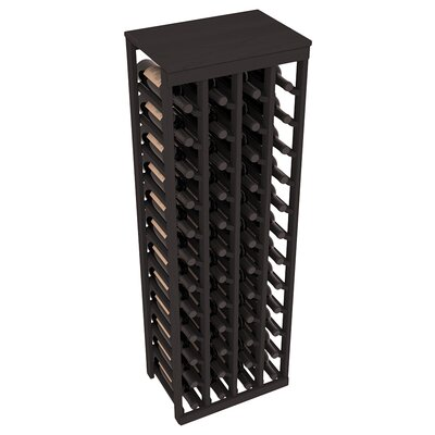 Karnes Pine 48 Bottle Floor Wine Rack Finish: Black