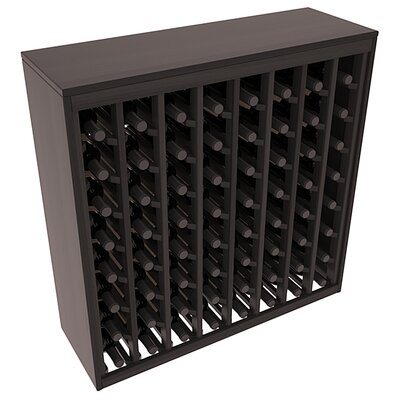 Karnes Redwood Deluxe 64 Bottle Floor Wine Rack Finish: Black Satin