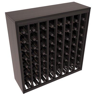 Karnes Redwood Deluxe 64 Bottle Floor Wine Rack Finish: Black Satin