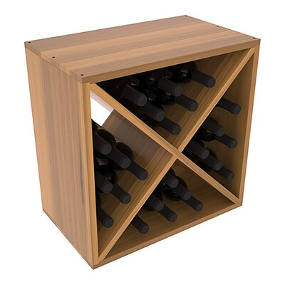 Karnes Redwood X-Cube 24 Bottle Tabletop Wine Rack Finish: Oak Satin