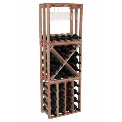 Karnes Redwood Lattice Stacking Cube 45 Bottle Floor Wine Rack Finish: Natural