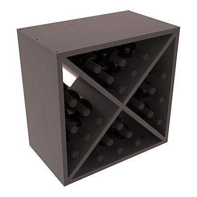 Karnes Pine X-Cube 24 Bottle Tabletop Wine Rack Finish: Black Satin