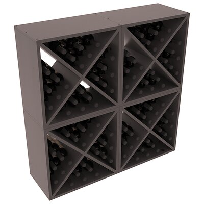 Karnes Pine X-Cube 96 Bottle Floor Wine Rack Finish: Black Satin