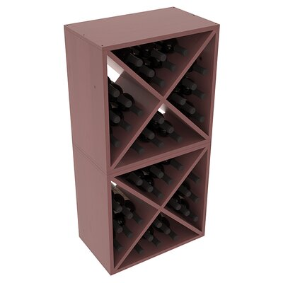 Karnes Pine X-Cube 48 Bottle Floor Wine Rack Finish: Walnut Satin