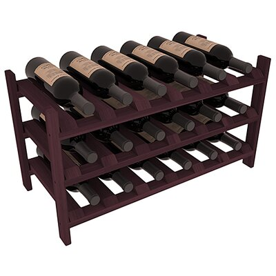 Stratton Stackable 18 Bottle Tabletop Wine Rack Finish: Burgundy