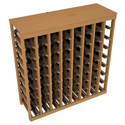 Karnes Pine 64 Bottle Floor Wine Rack Finish: Oak