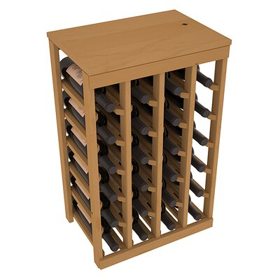 Karnes Pine 24 Bottle Floor Wine Rack Finish: Oak