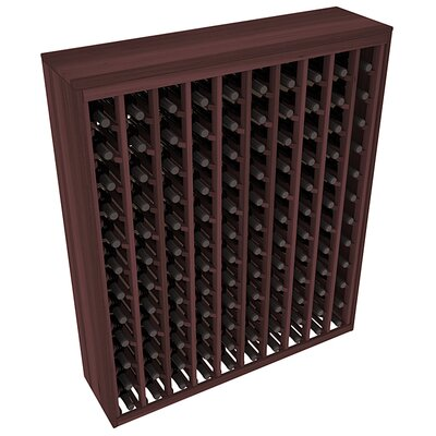 Karnes Redwood Deluxe 120 Bottle Floor Wine Rack Finish: Walnut