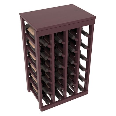 Karnes Pine 24 Bottle Floor Wine Rack Finish: Burgundy Satin