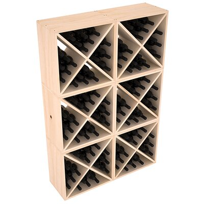 Karnes Pine X-Cube 144 Bottle Floor Wine Rack Finish: Natural