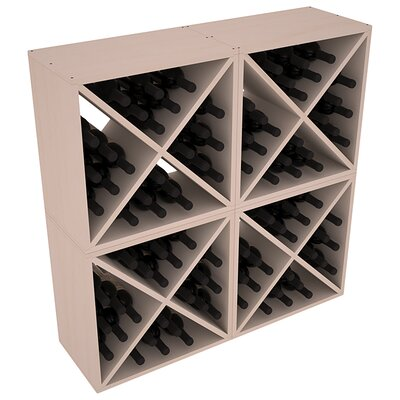 Karnes Pine X-Cube 96 Bottle Floor Wine Rack Finish: Gray