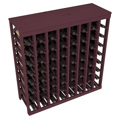 Karnes Pine 64 Bottle Floor Wine Rack Finish: Burgundy