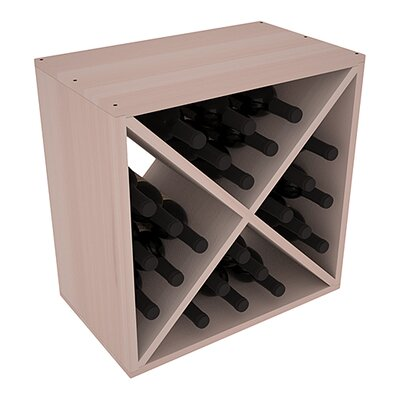 Karnes Redwood X-Cube 24 Bottle Tabletop Wine Rack Finish: Gray