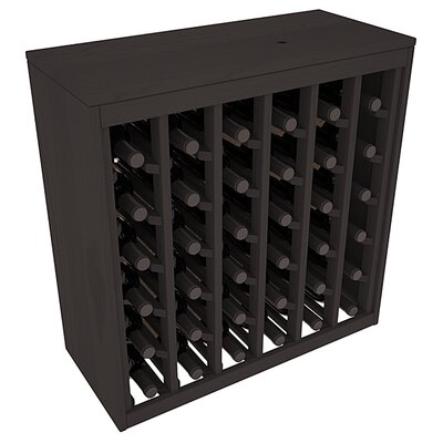 Karnes Pine Deluxe 36 Bottle Floor Wine Rack Finish: Black