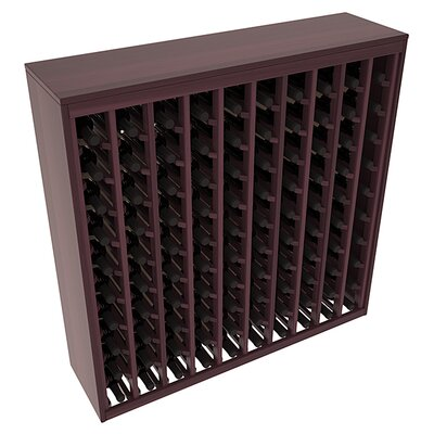 Karnes Redwood Deluxe 100 Bottle Floor Wine Rack Finish: Burgundy Satin