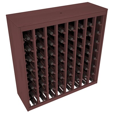Karnes Pine Deluxe 64 Bottle Floor Wine Rack Finish: Walnut