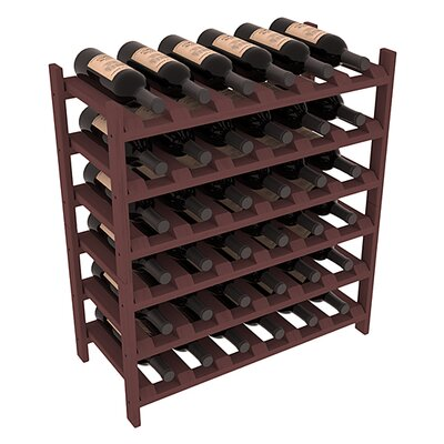 Karnes Pine Stackable 36 Bottle Floor Wine Rack Finish: Walnut