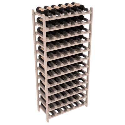 Karnes Pine Stackable 72 Bottle Floor Wine Rack Finish: Gray Satin