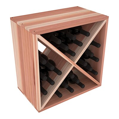 Karnes Redwood X-Cube 24 Bottle Tabletop Wine Rack Finish: Natural