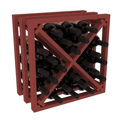 Karnes Pine Lattice X-Cube 24 Bottle Tabletop Wine Rack Finish: Cherry