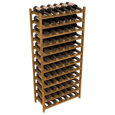 Karnes Redwood Stackable 72 Bottle Floor Wine Rack Finish: Oak