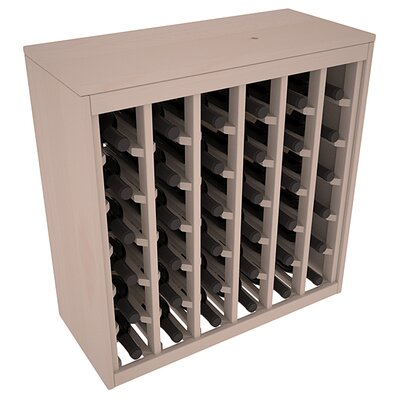 Karnes Pine Deluxe 36 Bottle Floor Wine Rack Finish: Gray