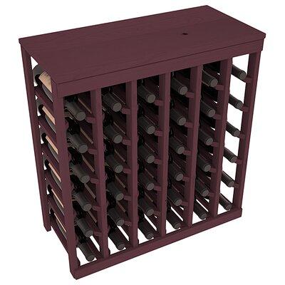 Karnes Pine 36 Bottle Floor Wine Rack Finish: Burgundy