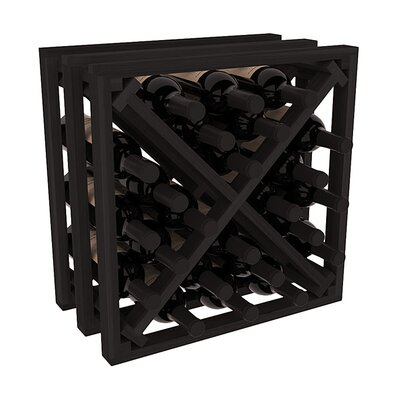 Karnes Redwood Lattice X-Cube 24 Bottle Tabletop Wine Rack Finish: Black
