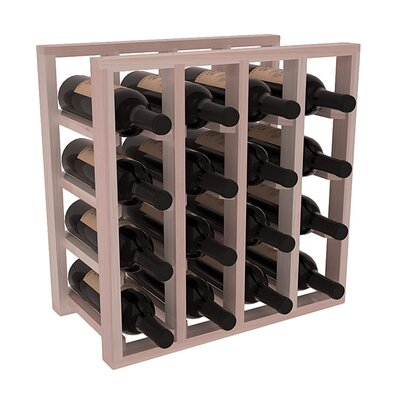 Karnes Redwood Lattice 16 Bottle Tabletop Wine Rack Finish: Gray Satin
