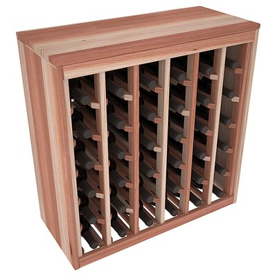 Karnes Redwood Deluxe 36 Bottle Floor Wine Rack Finish: Natural