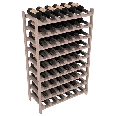 Karnes Redwood Stackable 54 Bottle Floor Wine Rack Finish: Gray