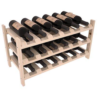 Karnes Pine Stackable 18 Bottle Tabletop Wine Rack Finish: Natural Satin