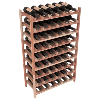 Karnes Redwood Stackable 54 Bottle Floor Wine Rack Finish: Natural