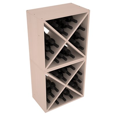 Karnes Pine X-Cube 48 Bottle Floor Wine Rack Finish: Gray