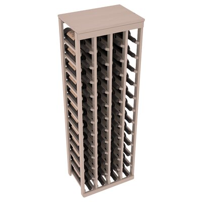 Karnes Pine 48 Bottle Floor Wine Rack Finish: Gray Satin