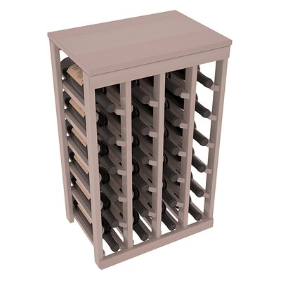 Karnes Redwood Table Top 24 Bottle Floor Wine Rack Finish: Gray Satin