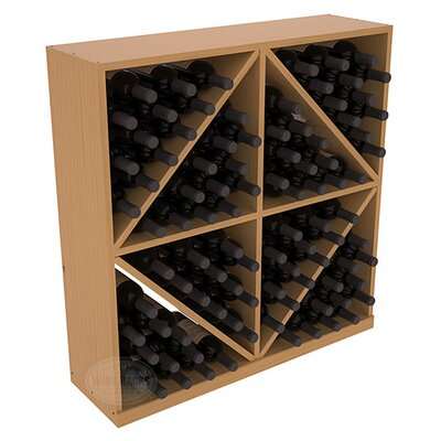 Karnes Pine Diamond Storage 96 Bottle Floor Wine Rack Finish: Oak Satin
