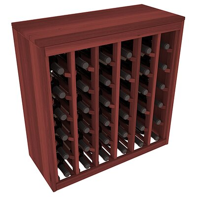 Karnes Redwood Deluxe 36 Bottle Floor Wine Rack Finish: Cherry